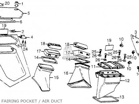 Honda Gl1100i Goldwing Interstate 1983 d Usa Fairing Pocket   Air Duct