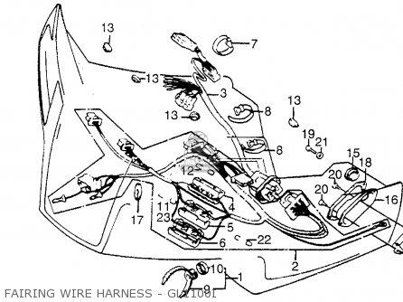 Honda Gl1100i Goldwing Interstate 1983 d Usa Fairing Wire Harness - Gl1100i