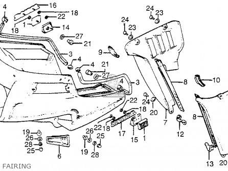 Honda Gl1100i Goldwing Interstate 1983 d Usa Fairing
