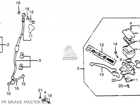 Honda Gl1100i Goldwing Interstate 1983 d Usa Fr Brake Master Cyl