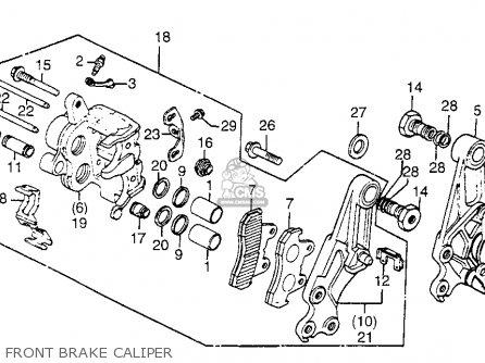Honda Gl1100i Goldwing Interstate 1983 d Usa Front Brake Caliper