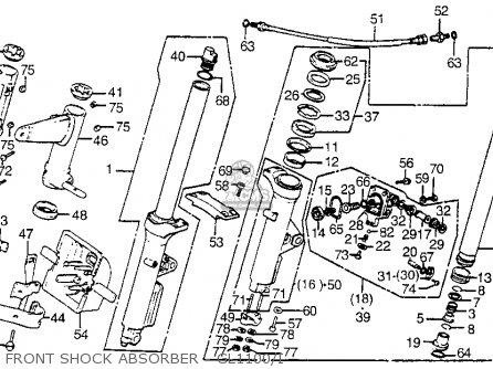 Honda Gl1100i Goldwing Interstate 1983 d Usa Front Shock Absorber - Gl1100 i