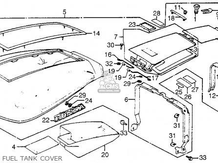 Honda Gl1100i Goldwing Interstate 1983 d Usa Fuel Tank Cover