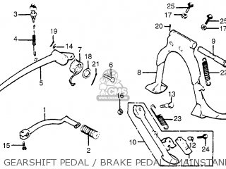 Honda Gl1100i Goldwing Interstate 1983 d Usa Gearshift Pedal   Brake Pedal   Mainstand