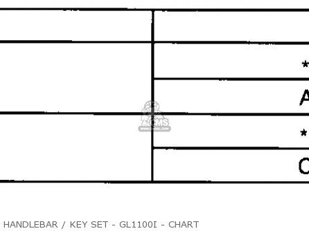 Honda Gl1100i Goldwing Interstate 1983 d Usa Handlebar   Key Set - Gl1100i - Chart