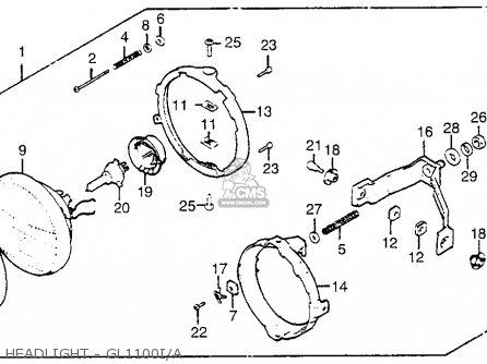 Honda Gl1100i Goldwing Interstate 1983 d Usa Headlight - Gl1100i a
