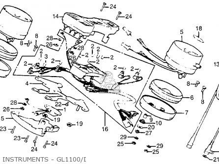 Honda Gl1100i Goldwing Interstate 1983 d Usa Instruments - Gl1100 i