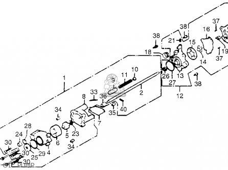 Honda Gl1100i Goldwing Interstate 1983 d Usa Oil Pump