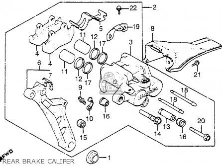 Honda Gl1100i Goldwing Interstate 1983 d Usa Rear Brake Caliper