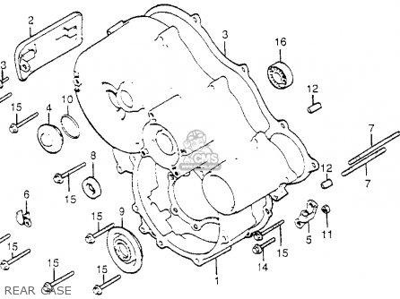 Honda Gl1100i Goldwing Interstate 1983 d Usa Rear Case
