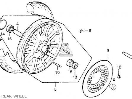 Honda Gl1100i Goldwing Interstate 1983 d Usa Rear Wheel