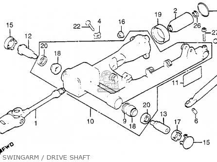 Honda Gl1100i Goldwing Interstate 1983 d Usa Swingarm   Drive Shaft