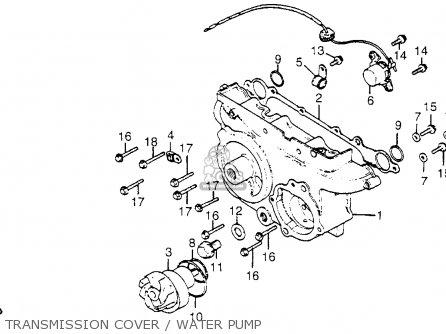 Honda Gl1100i Goldwing Interstate 1983 d Usa Transmission Cover   Water Pump