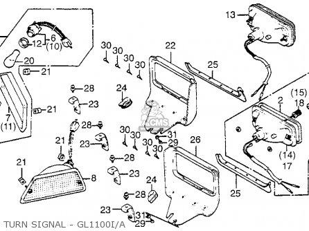 Honda Gl1100i Goldwing Interstate 1983 d Usa Turn Signal - Gl1100i a