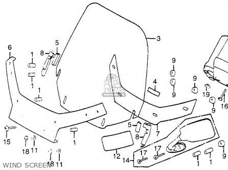 Honda Gl1100i Goldwing Interstate 1983 d Usa Wind Screen