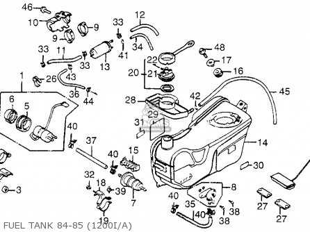 honda gl1200 goldwing 1984  e  usa parts list partsmanual