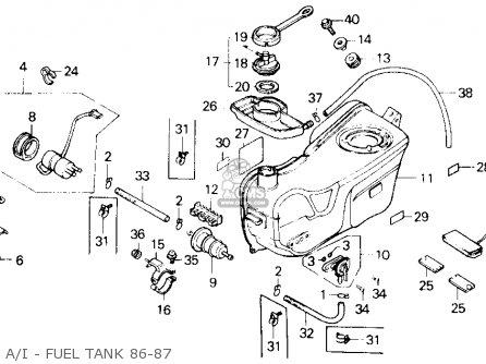 Honda Gl1200a Gold Wing Aspencade 1986 Usa A i - Fuel Tank 86-87