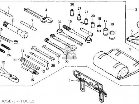 Honda Gl1200a Gold Wing Aspencade 1986 Usa A se-i - Tools
