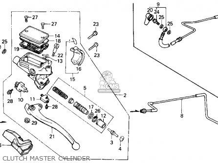 Honda Gl1200a Gold Wing Aspencade 1986 Usa Clutch Master Cylinder
