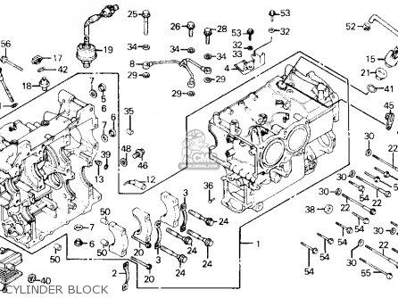 Honda Gl1200a Gold Wing Aspencade 1986 Usa Cylinder Block