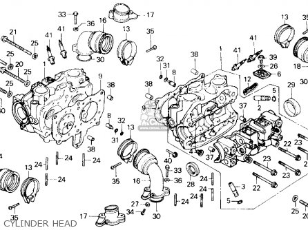 Honda Gl1200a Gold Wing Aspencade 1986 Usa Cylinder Head