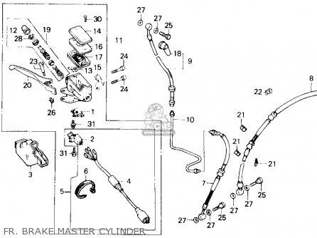 Honda Gl1200a Gold Wing Aspencade 1986 Usa Fr  Brake Master Cylinder