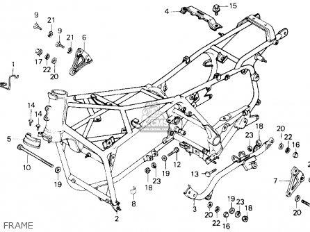 Honda Gl1200a Gold Wing Aspencade 1986 Usa Frame