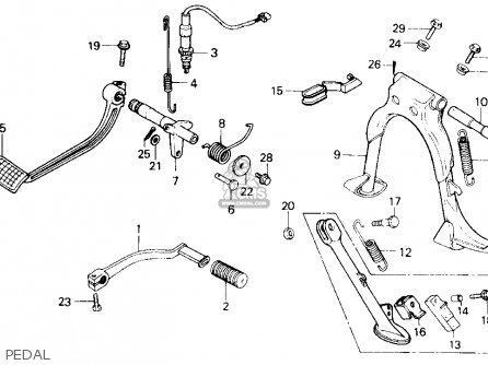 Honda Gl1200a Gold Wing Aspencade 1986 Usa Pedal