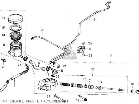 Honda Gl1200a Gold Wing Aspencade 1986 Usa Rr  Brake Master Cylinder 1