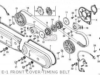 E-1 FRONT COVER-TIMING BELT - GL1200A GOLDWING ASPENCADE 1985 (F)