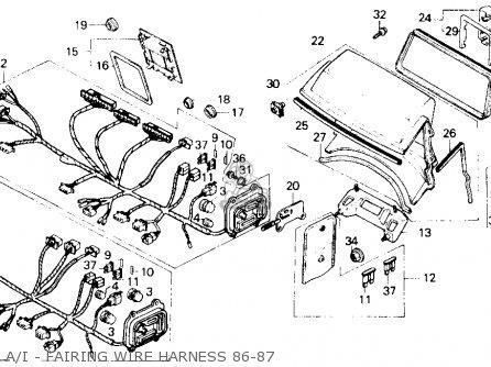 Honda Gl1200a Goldwing Aspencade 1986 g Usa A i - Fairing Wire Harness 86-87
