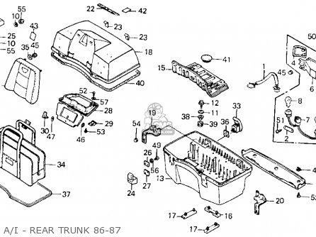 Honda Gl1200a Goldwing Aspencade 1986 g Usa A i - Rear Trunk 86-87