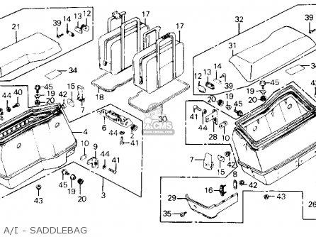 Honda Gl1200a Goldwing Aspencade 1986 g Usa A i - Saddlebag