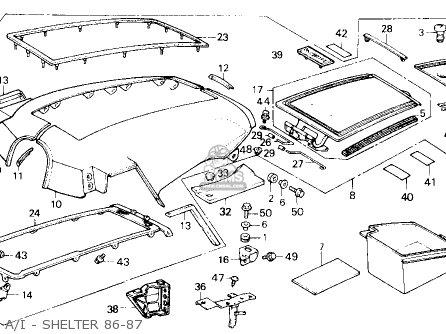 Honda Gl1200a Goldwing Aspencade 1986 g Usa A i - Shelter 86-87