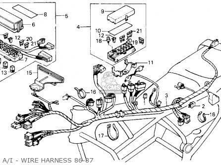 Honda Gl1200a Goldwing Aspencade 1986 g Usa A i - Wire Harness 86-87
