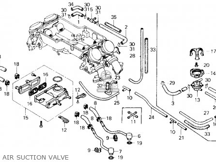 Honda Gl1200a Goldwing Aspencade 1986 g Usa Air Suction Valve