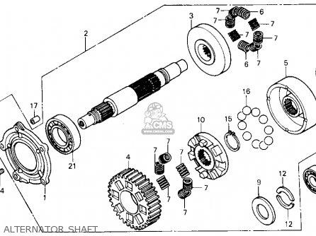 Honda Gl1200a Goldwing Aspencade 1986 g Usa Alternator Shaft