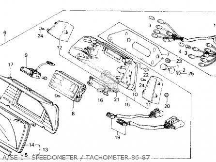 Honda Gl1200a Goldwing Aspencade 1986 g Usa A se-i - Speedometer   Tachometer 86-87