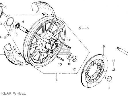 Honda Gl1200a Goldwing Aspencade 1986 g Usa California Rear Wheel