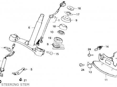 Honda Gl1200a Goldwing Aspencade 1986 g Usa California Steering Stem