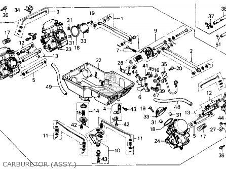 Honda Gl1200a Goldwing Aspencade 1986 g Usa Carburetor assy