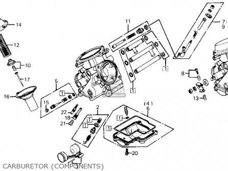 Honda Gl1200a Goldwing Aspencade 1986 g Usa Carburetor components
