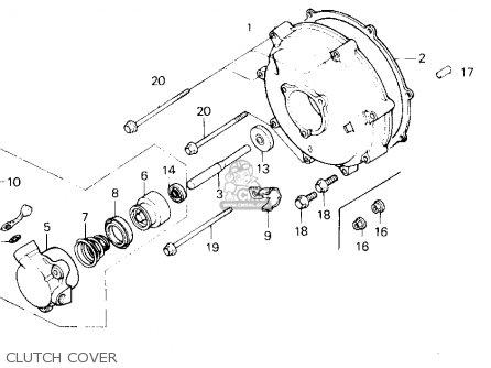 Honda Gl1200a Goldwing Aspencade 1986 g Usa Clutch Cover