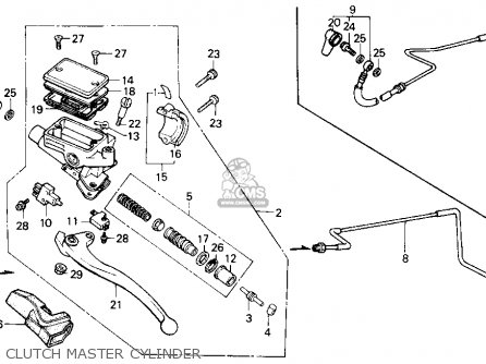 Honda Gl1200a Goldwing Aspencade 1986 g Usa Clutch Master Cylinder