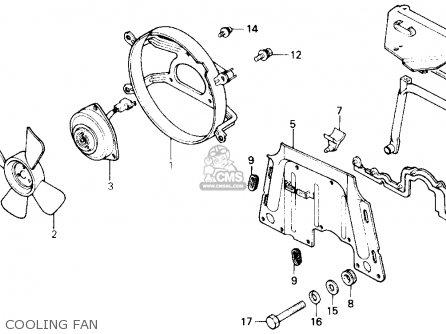 Honda Gl1200a Goldwing Aspencade 1986 g Usa Cooling Fan