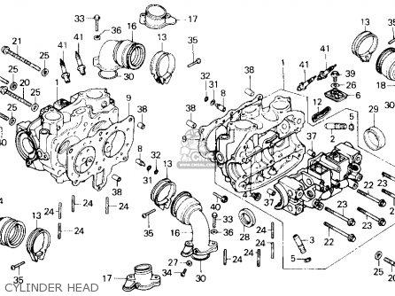 Honda Gl1200a Goldwing Aspencade 1986 g Usa Cylinder Head
