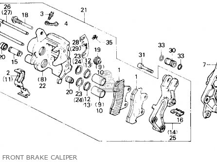 Honda Gl1200a Goldwing Aspencade 1986 g Usa Front Brake Caliper