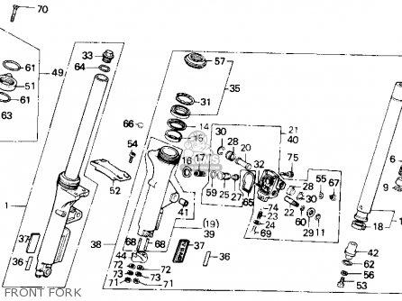 Honda Gl1200a Goldwing Aspencade 1986 g Usa Front Fork