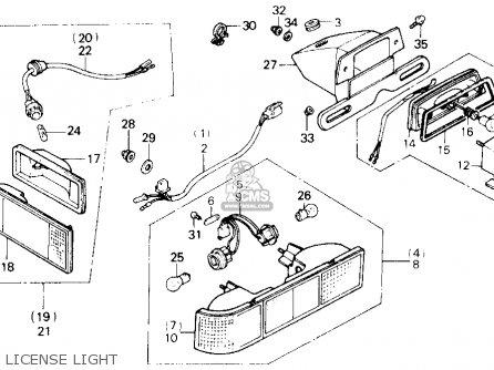 Honda Gl1200a Goldwing Aspencade 1986 g Usa License Light