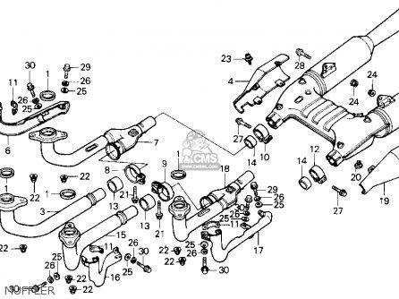 Honda Gl1200a Goldwing Aspencade 1986 g Usa Muffler